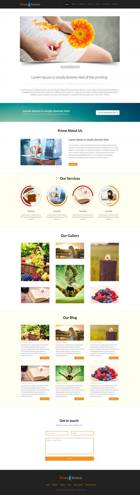 HTML-One Page Template