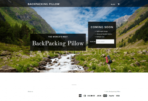 Landing Page-BackPacking Pillow